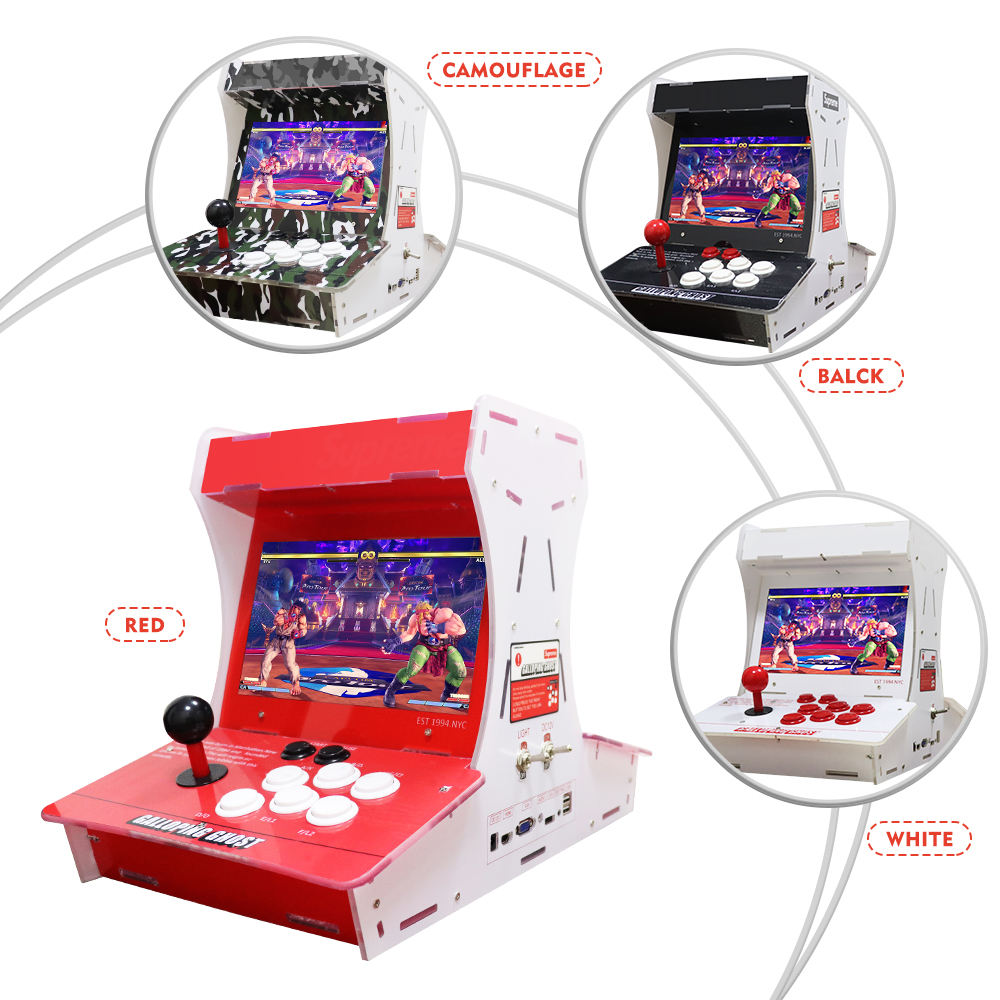 7Inch 10 Inch Double Sup Pandora 3D Retro Arcade Box New Sale Hot Coin-Operated Player 3399 in 1Imported Acrylic Material