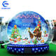 Customize giant christmas inflatable human size snow globe photo booth for party