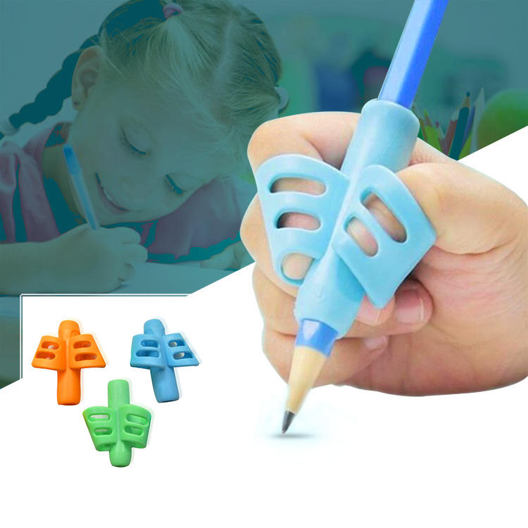 Factory Outlet School Supplies kids silicone pencil grip soft touch handwriting Aid children writing