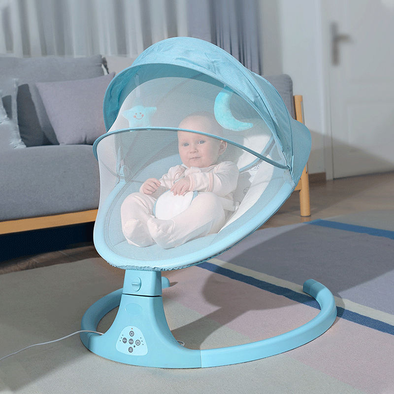 2020 automatic cradle swing baby bed rocking chair with music