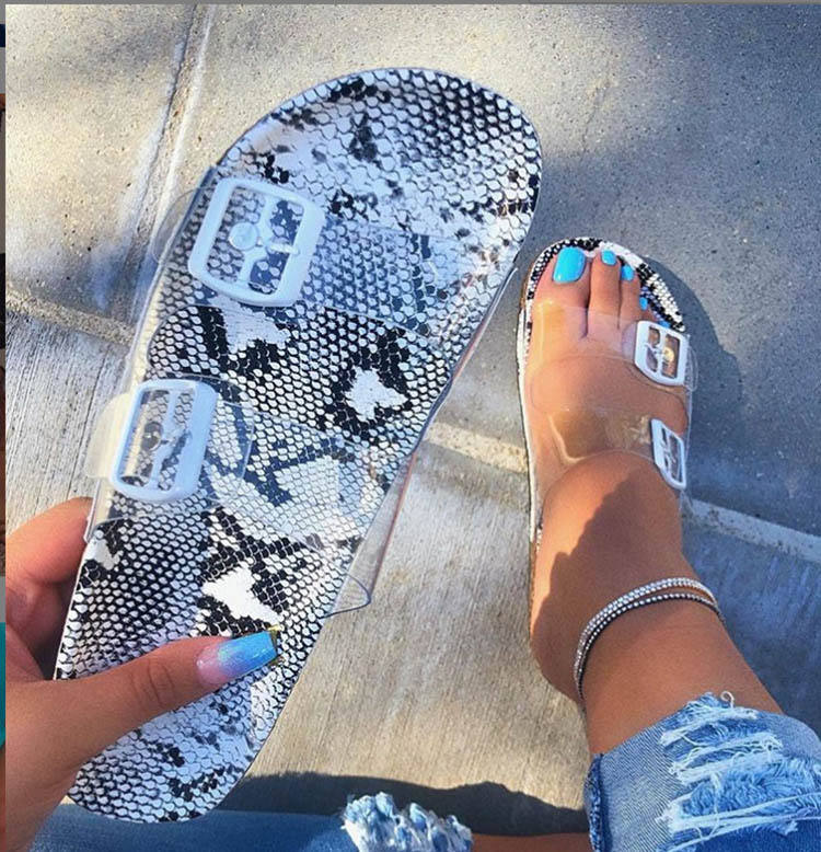 Fashion Transparent Ladies Slippers And Sandals Casual Slides Slippers For Women
