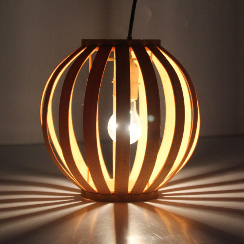 lustre pendente Customized Nordic Solid wood natural lampshade for home decoration wooden pendant lamp decorative lights