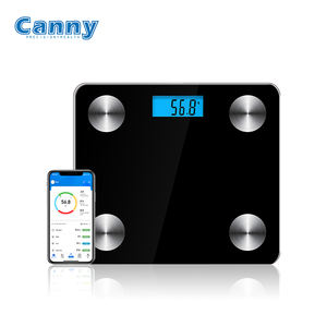 Canny High Quality Electronic Glass Smart Calorie Fit 180Kg Blue-tooth Digital Body Weight Bathroom Analysis Body Fat Scale