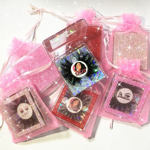 Wholesale Make Own Brand Private Label Lace Bags 25mm Eyelashes Vendor Fake Lashes 3D 5D Real Mink Eye lashes
