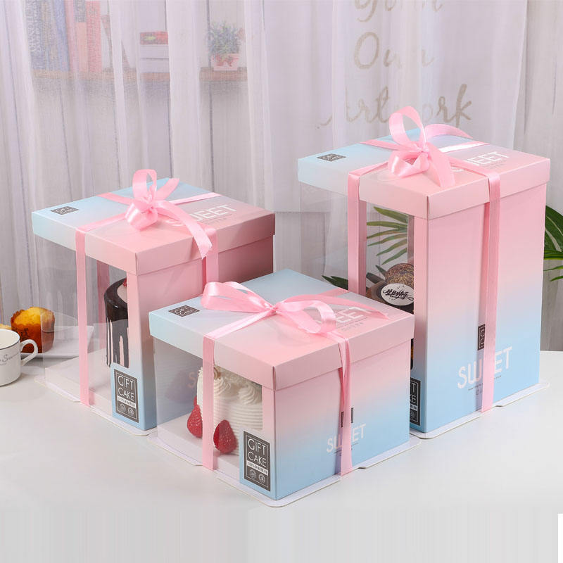 candy single cupcake muffin fairy boxes with clear windows tall talk wedding cake box