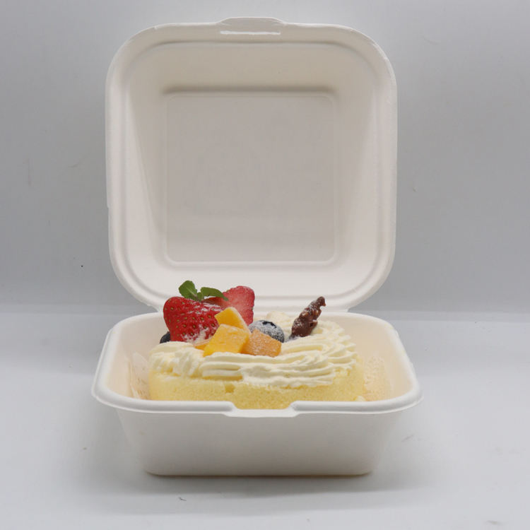Natural white color sugarcane disposable bagasse paper pulp plates