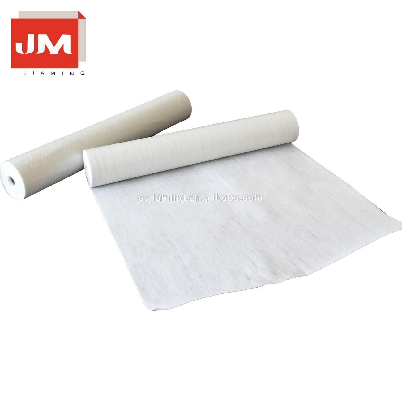 100% polyester felt fabric rolls flooring mat for home painting fleece white sticky felt