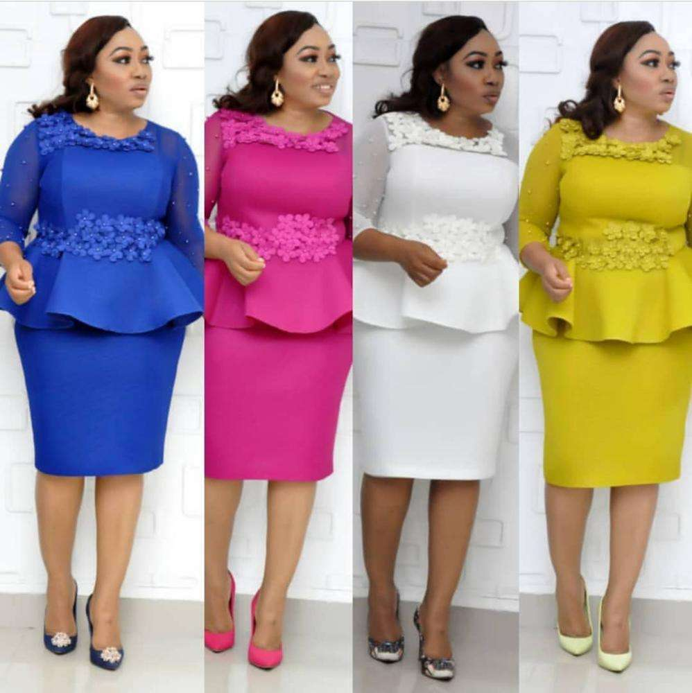 Plus size women clothing elegant turkey ladies office dresses