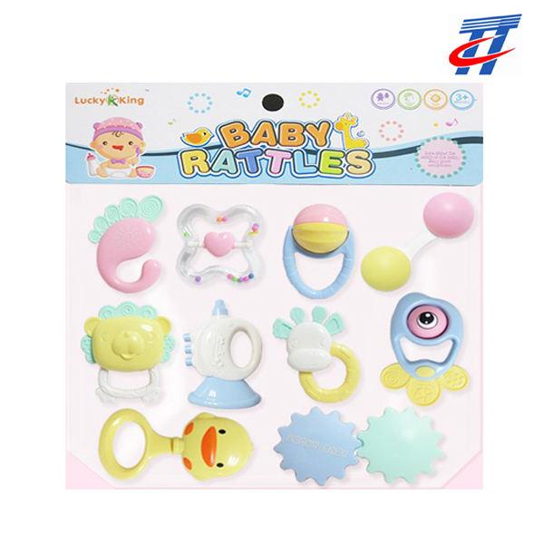 Plástico seguro bebé juguetes tradicionales sonajeros