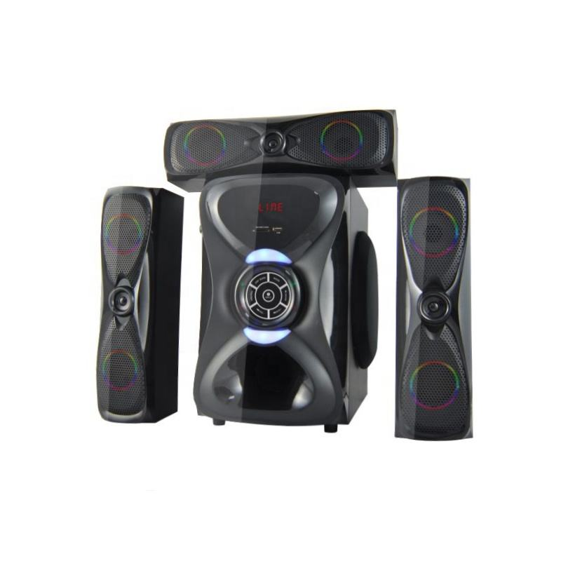 Multimedia 3.1 Home Sound Music System Speakers with Bluetooth USB SD FM radio