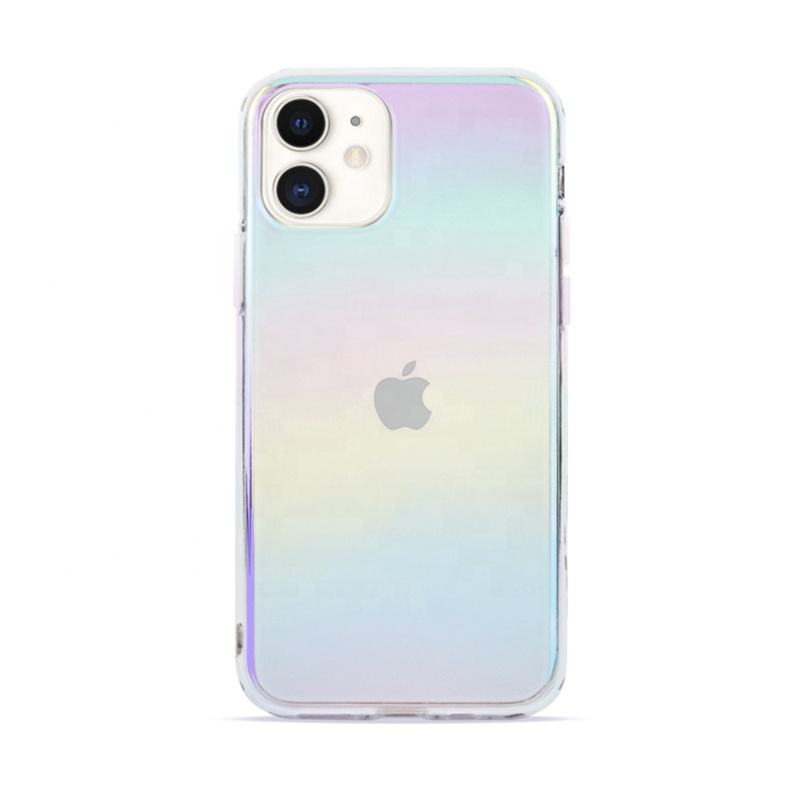 Phone Case for iPhone Iridescent Holographic Rainbow Phone Cover Color Changing for iPhone 7 8 Plus XR X Max 11 Pro 12 Mini