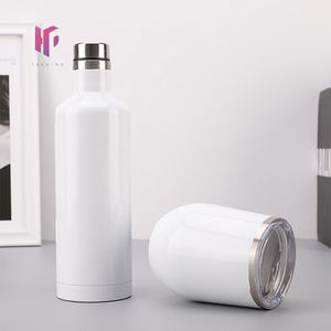 Double Wall Vacuum Insulated Keep Hot and Cold 500ML Stainless Steel Bottle Sublimation Wine Bottle and Wine Tumbler Set