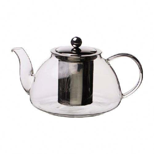 China factory Restaurant use tea pot set glass with SS strainer