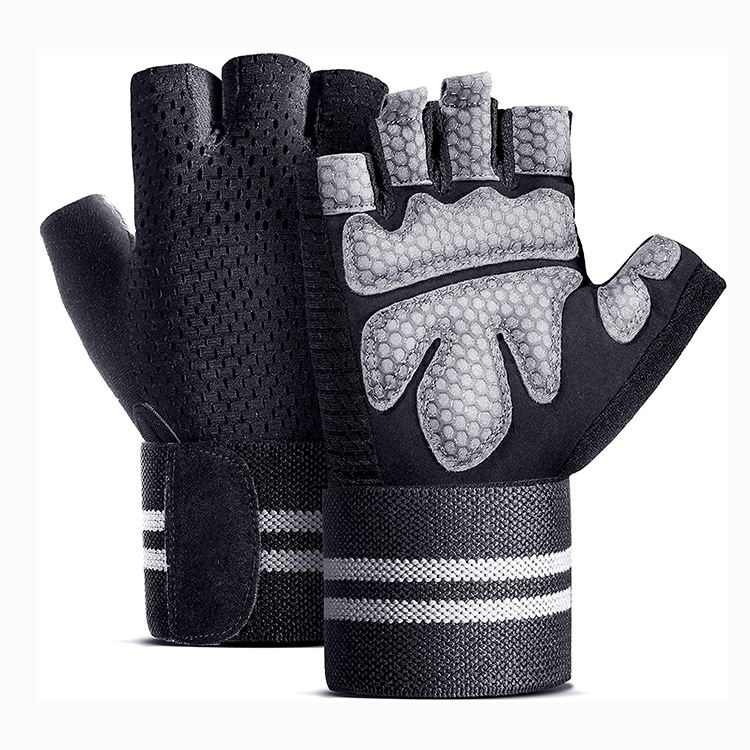 Eco-friendly personalized anti cut men women universal workout gym gloves fitness