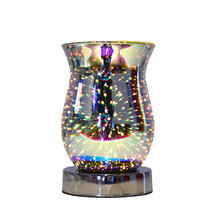 fireworks 3D pattern table  lamp  electrical aroma wax melt burner