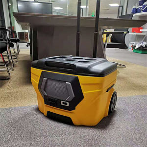 Speaker Wheeled cooler box 50L with Bluetooth ice box trolley cooler