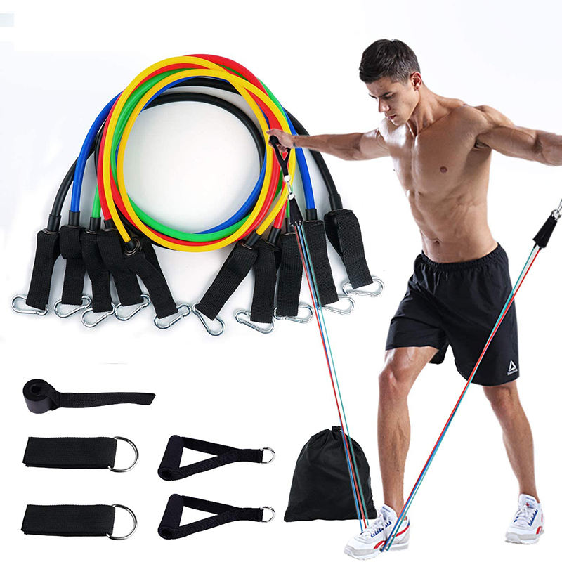 Custom Latex <span class=keywords><strong>Rubber</strong></span> Lange Spanning Stretch Elastische <span class=keywords><strong>Oefening</strong></span> Bands Tube Set Voor Fitness Workout Oefeningen