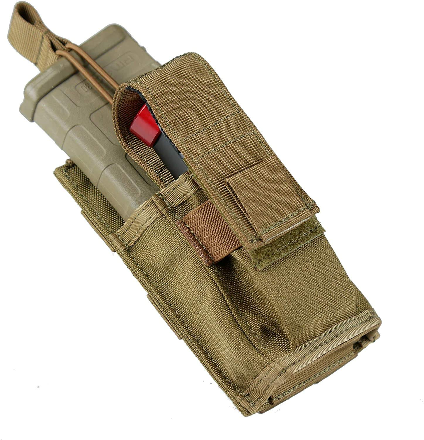 Tactical EDC EMT Tool Organizer Holder 1000D Single Pistol Mag Pouch Molle Magazine Pouch