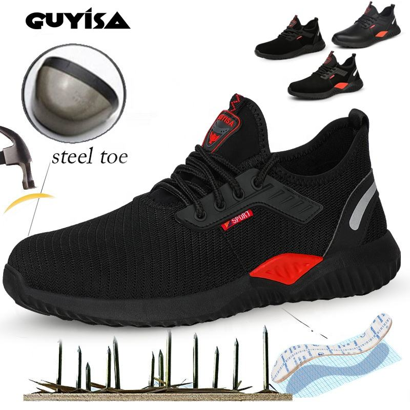 GUYISA S3 Indestructible Ryder Shoes Men And Women casual safety shoes with steel toe