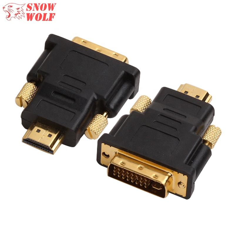 HDMI Type A to DVI 24+1 Male-Male Converter support 1080P Adapter