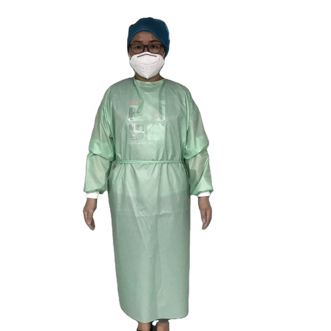 non surgical ce polypropylene aami 3 reusable isolation gown cpe yellow disposable