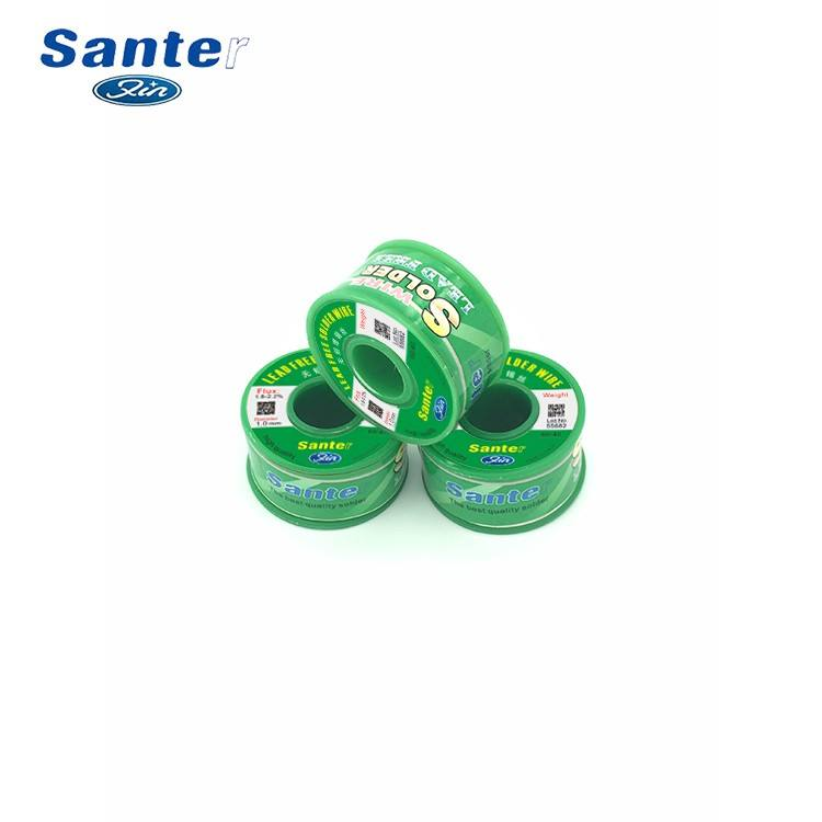 Santer Lead free tin activity solder welding soldering lead wire 0.8mm 100g Sn99.3/Cu0.7 G.W N.W