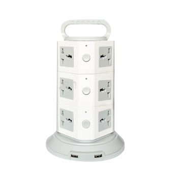 GWTEE Hot Surge protector vertical power extension socket tower-6