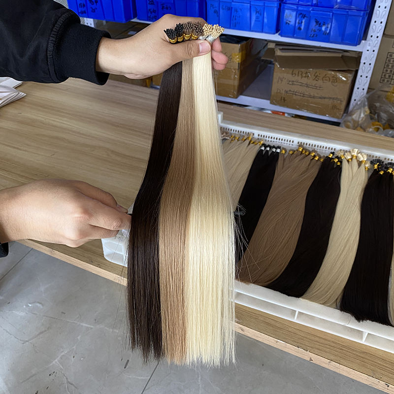 I Tip Human Hair Extension Dark Brown, Prebonded 100% Remy i-Tip Hair Extensions, Natural Raw Indian I Tip Hair Extension