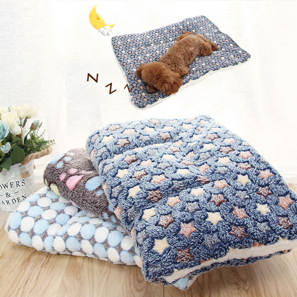 soft pet fleece fleece blanket for cushion for dog sofa puppy cat washable carpet for home keep warm