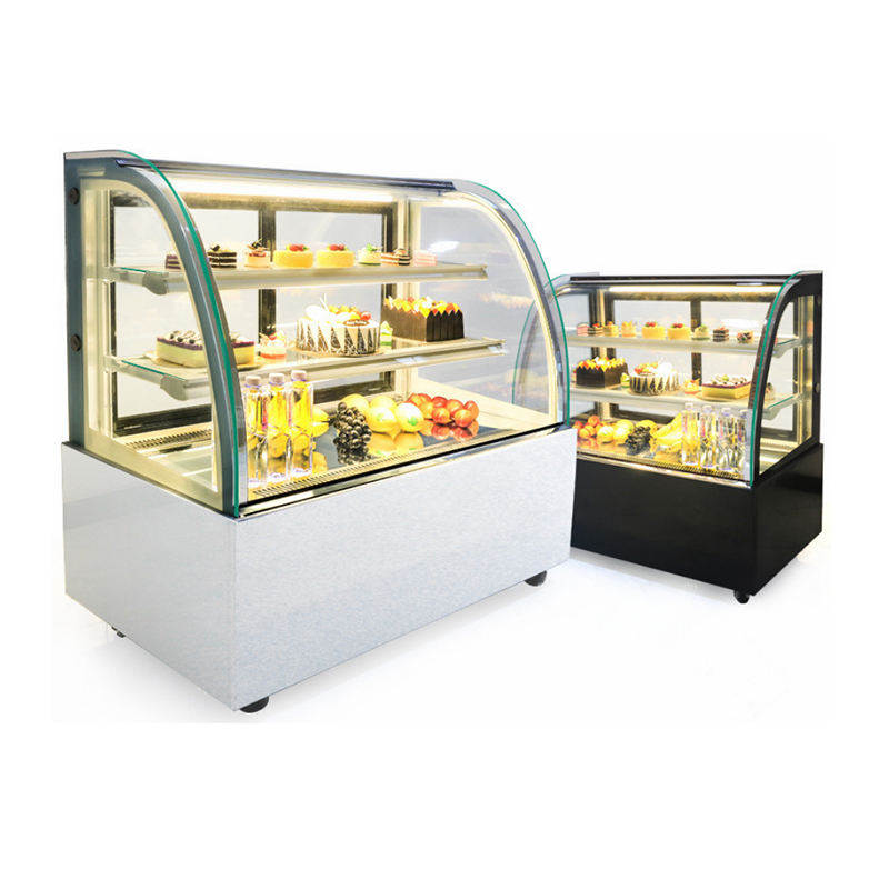 Bakery display cake refrigerated cabinet cake showcase with marble base