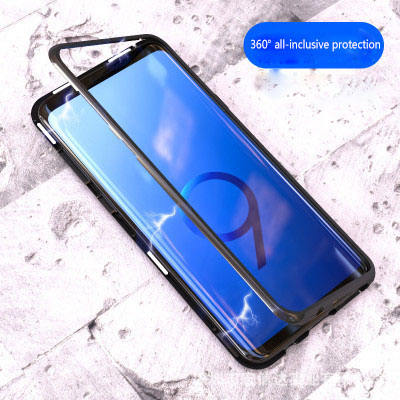 Creative Magnetic Tempered glass phone case for samsung S20 ULTRA