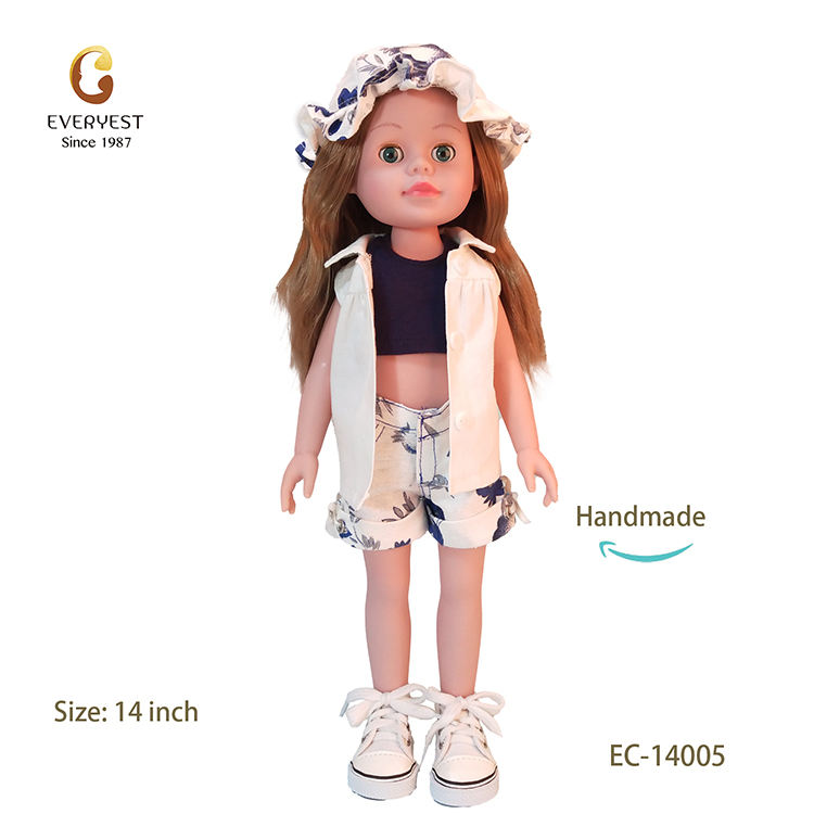 factory price 14 inch doll vinyl toy baby doll for kids