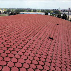 Asphalt roofing shingles / roof tile / bitumen shingles  - Roll Shingle - Red