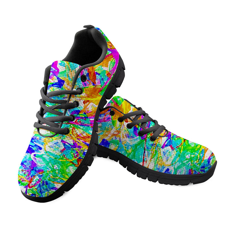 Colorful 3D Printed Space Ladies Flat Shoes For Women Autumn Shoes Nursing Goat Sneakers Ulzzang Mesh Shoes Sapato Feminino