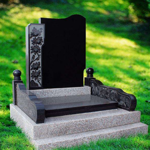 Chinese granite headstones High quality China hand carved white marble tombstone headstone