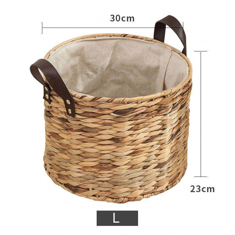 Set of 3 Wholesale Vintage Design Seagrass Straw Baby Changing Basket With Handle Basket With Pad