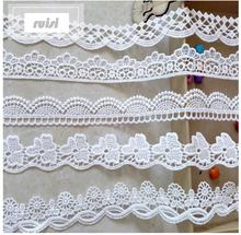 Small  Water-soluble Embroidery Black and White Lace Fabric for Home Textile Fabric Accessories