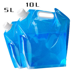 Custom plastic stand up pouch water packaging bag 5 liter foldable water bags with spout