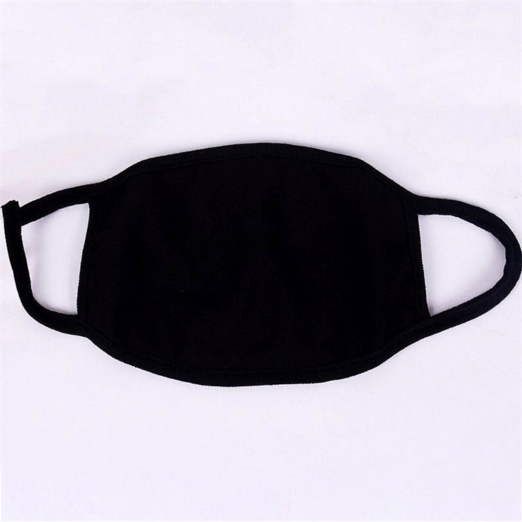 Black full three-layer thermal washable cotton mask cotton face mask
