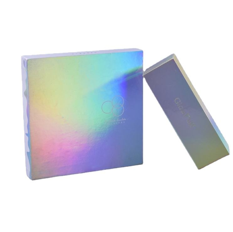 eco friendly high quality holographic custom logo make up cosmetic box