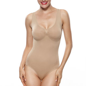 Women's Plus Size Tank Straps Briefer Shapewear Body Shaper Bodysuit for Women