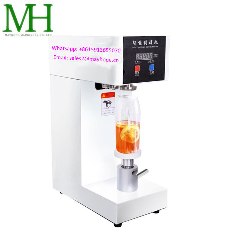 Intelligent desktop food canning machinery semi-automatic tin can sealing seaming machine for aluminum