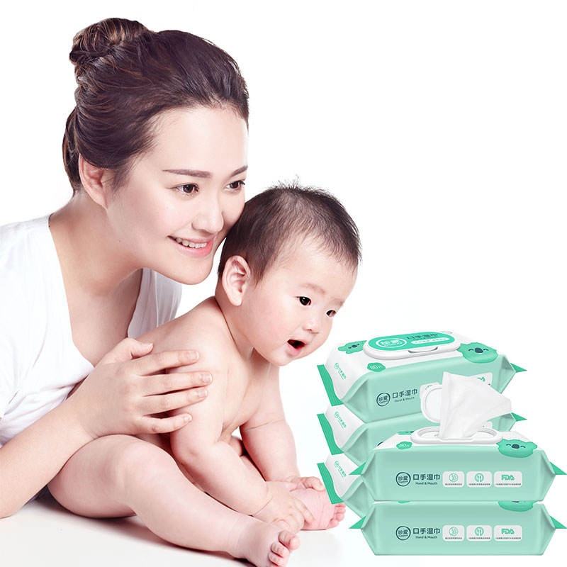 Unscented Baby Wipes KS21 Unscented Baby Wipes Bamboo Organic 80 Pcs Wipe Tissue Private Label Baby Wipes