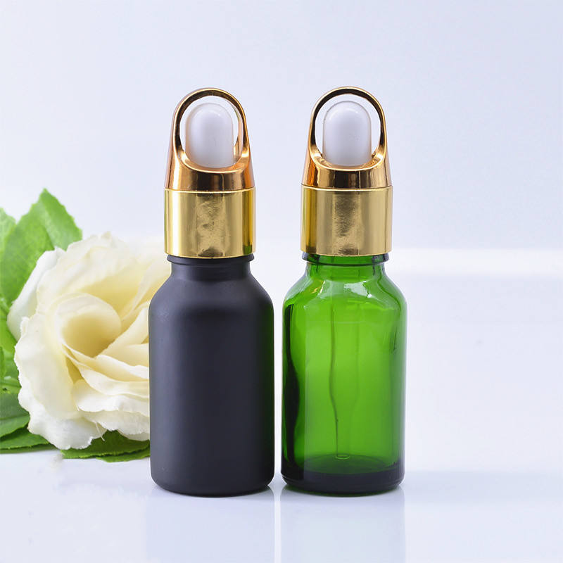 Factory 30ml 1 oz Cosmetic Glass Bottle E Liquid Oil Dropper Bottle With Flower Basket Dropper Cap
