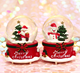 Christmas bow crystal ball music box creative home decoration accessories snowball