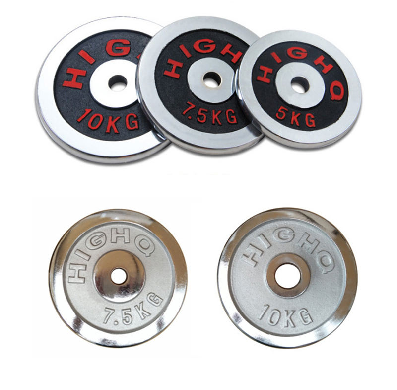 Wholesale Gym Equipment Fitness Power Training Chrome Coated Case Iron Weight Plates Barbell Dumbbell Weight Plates