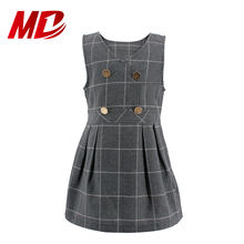 Popular Girls School Uniform Grey Plaid Jumper Dress