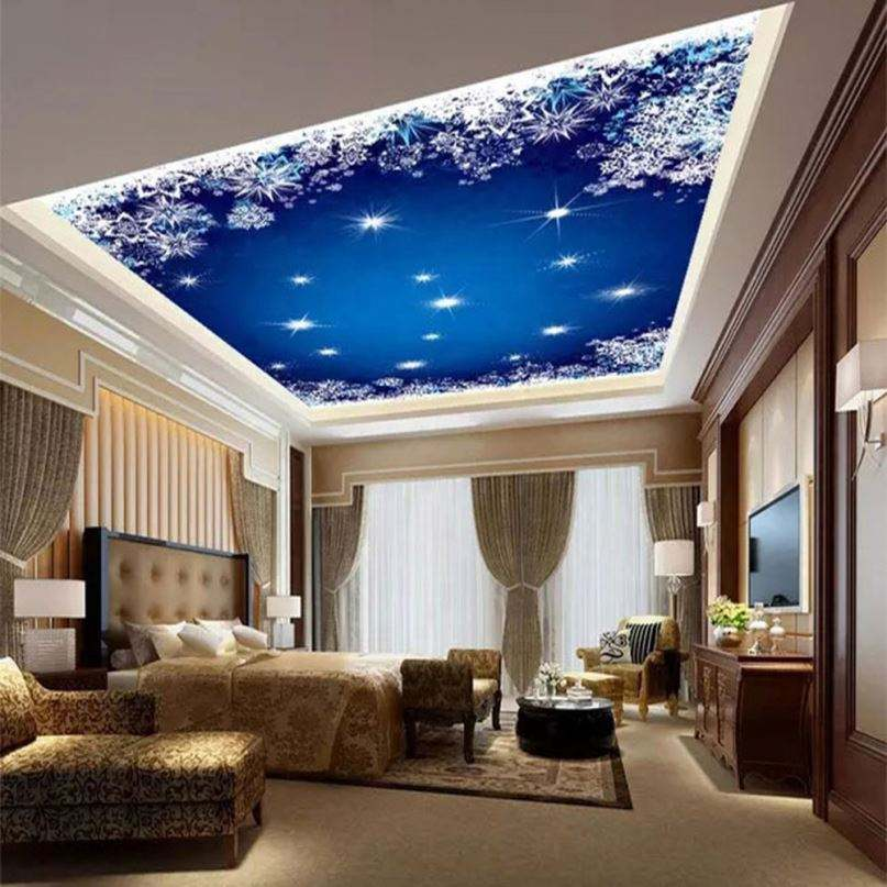 Popular 3d effect new design for lighting pvc stretch ceiling