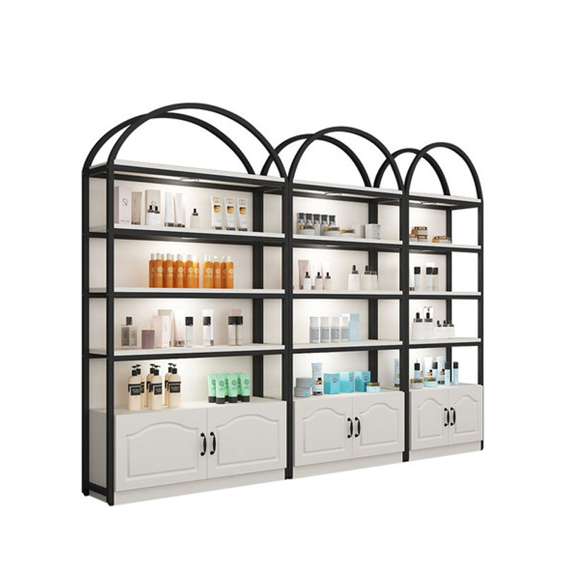 Factory direct price wood loreal cosmetic display stand wisda display