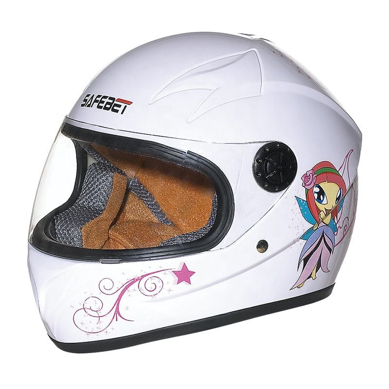 Good Price Custom Cute design children racing open face Kids Full Helmet Children Sports Safety Motor Helmet with visor For Sale